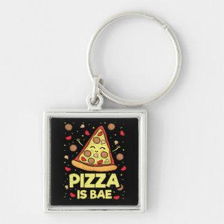 Porte-clés La pizza est Bae - bande dessinée drôle -