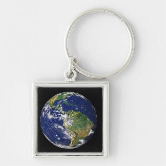 Porte-clés La pleine terre montrant l'Amérique du Sud