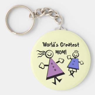Porte-clés La plus grande MAMAN du monde ! Porte - clé