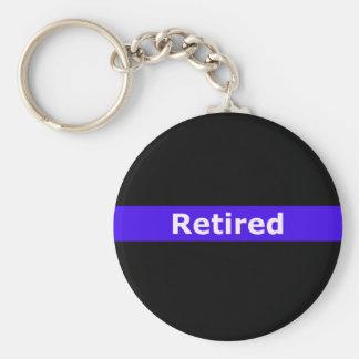 Porte-clés La police Retirted amincit Blue Line