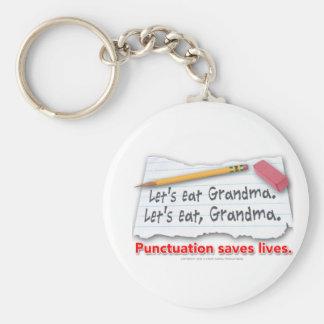 Porte-clés La ponctuation sauve les vies