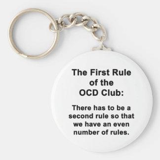 Porte-clés La première règle du club d'OCD