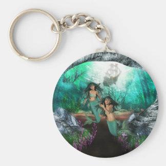 Porte-clés La sirène jumelle le porte - clé
