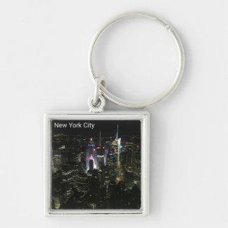 Porte-clés La soirée de New York City allume le porte - clé