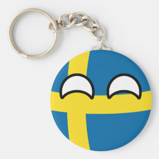 Porte-clés La Suède Geeky tendante drôle Countryball