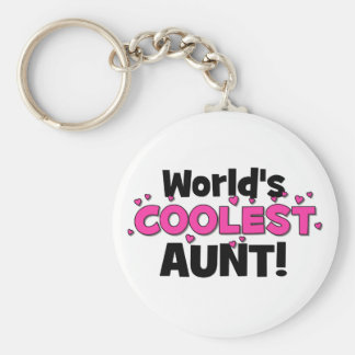 Porte-clés La tante la plus fraîche du monde !  Grand cadeau