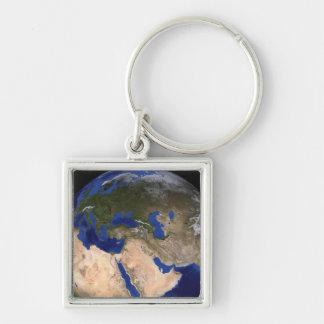 Porte-clés La terre de marbre bleue 2 de prochaine génération