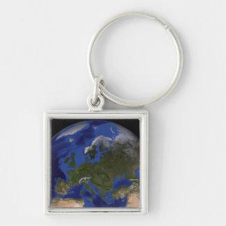 Porte-clés La terre de marbre bleue 6 de prochaine génération