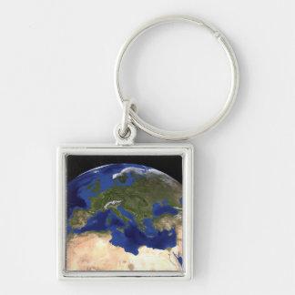 Porte-clés La terre de marbre bleue 7 de prochaine génération