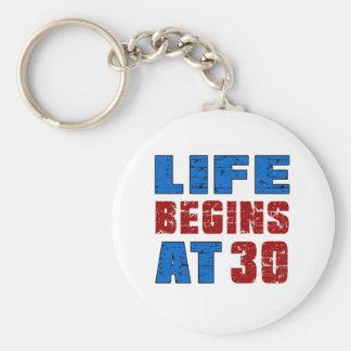 Porte-clés La vie commence à 30