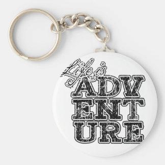 Porte-clés la vie est aventure