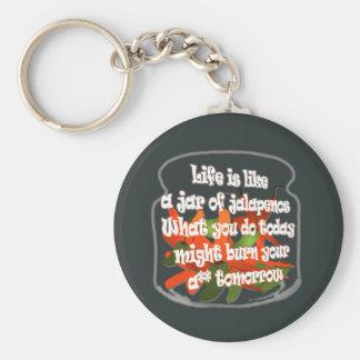 Porte-clés La vie est comme un pot de porte - clé de