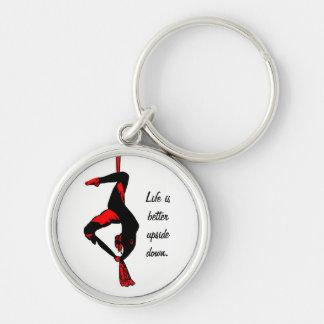 Porte-clés La vie est porte - clé mieux à l'envers