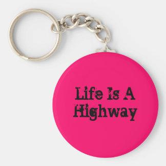 Porte-clés La vie est un porte - clé de route