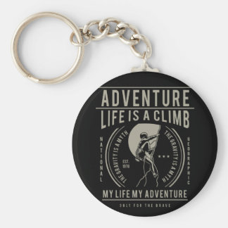 Porte-clés La vie est une montée | ma vie mon aventure