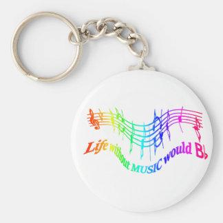Porte-clés La vie sans musique citation plate d'humour de B