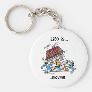 Porte-clés La vie se déplace