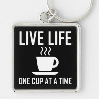 Porte-clés La vie vivante un buveur de thé de café de tasse à