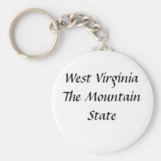Porte-clés La Virginie Occidentale l'état de montagne