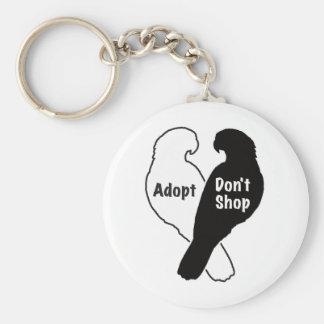 Porte-clés L'adoption de délivrance de perroquet ne font pas