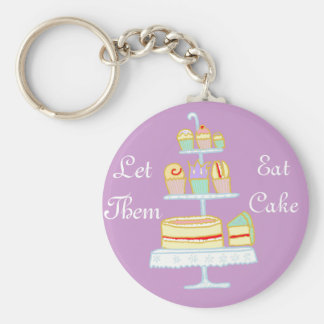 Porte-clés Laissez-les manger le gâteau