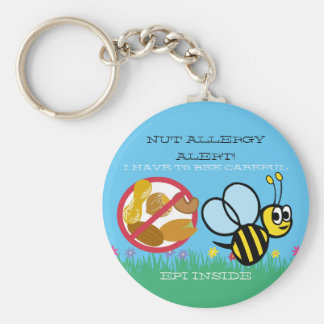 Porte-clés L'alerte d'allergie d'écrou gaffent des enfants
