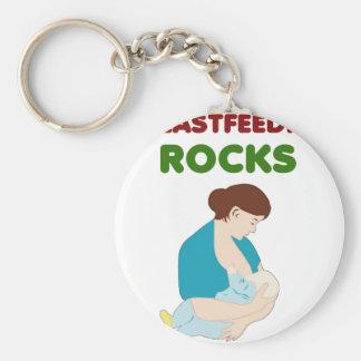 Porte-clés l'allaitement des roches, mère, bébé trait le