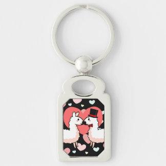 Porte-clés Lama de fantaisie et petit lama
