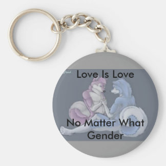 Porte-clés L'amour est porte - clé velu gai d'amour