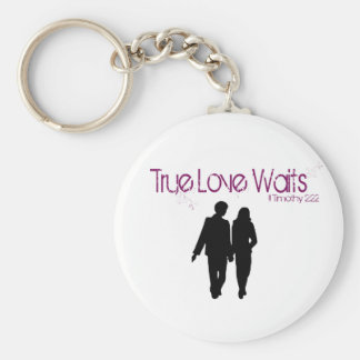 Porte-clés L'amour vrai attend le porte - clé