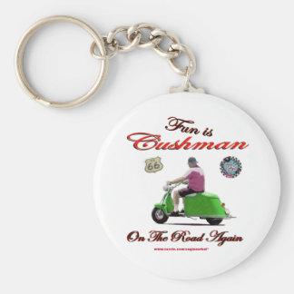 Porte-clés L'amusement est Cushman sur la route encore