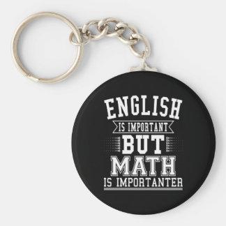 Porte-clés L'anglais est important mais les maths sont