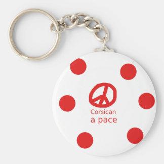 Porte-clés Langue et conception corses de symbole de paix