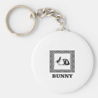 Porte-clés lapin noir et blanc