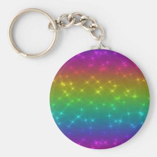 Porte-clés L'arc-en-ciel lumineux miroite porte - clé
