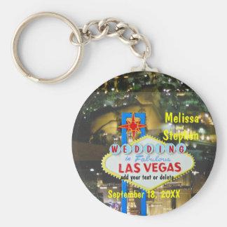 Porte-clés Las Vegas épousant la vue de bande