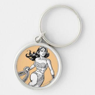 Porte-clés Lasso noir et blanc de femme de merveille