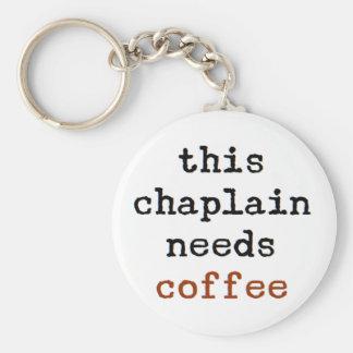 Porte-clés l'aumônier a besoin de café
