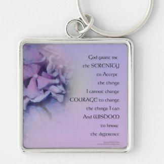 Porte-clés Lavande d'harmonie d'hortensias de prière de
