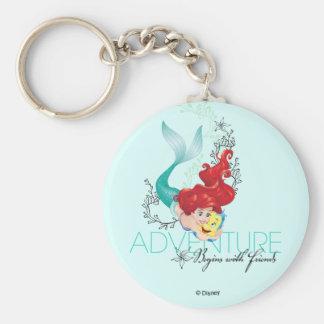 Porte-clés L'aventure d'Ariel | commence par des amis