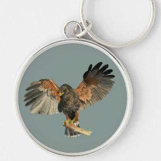 Porte-clés Le battement de faucon s'envole la peinture