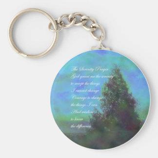 Porte-clés Le bleu de prière de sérénité opacifie le porte -