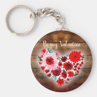 Porte-clés Le bois et les fleurs de grange | soient mon coeur