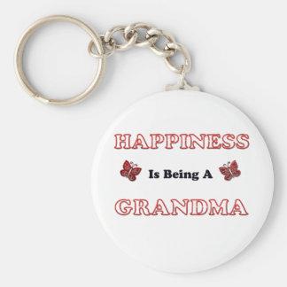 Porte-clés Le bonheur est une grand-maman