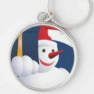 Porte-clés Le bonhomme de neige remet le cadeau…