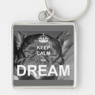 Porte-clés Le bouledogue français gardent le rêve calme