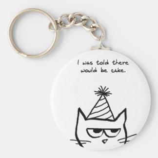 Porte-clés Le chat fâché déteste des anniversaires