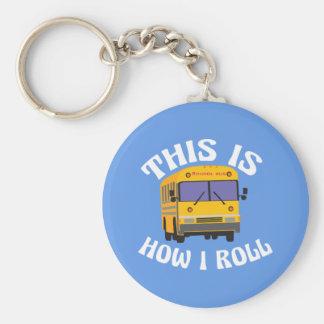 Porte-clés Le chauffeur d'autobus scolaire drôle ceci est