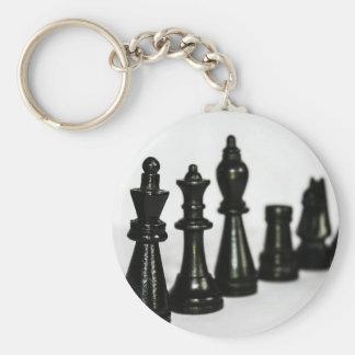 Porte-clés Le chiffre noir d'échecs rapièce la perspective