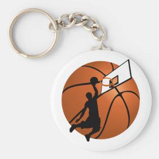 Porte-clés Le claquement trempent le joueur de basket w/Hoop